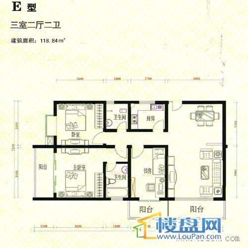 金域蓝山3室3厅2卫