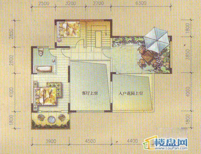 怡馨新寓1栋1-1号复式户型下层4室2厅2卫1厨