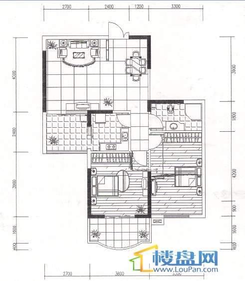 金地苑三期2室2厅1卫