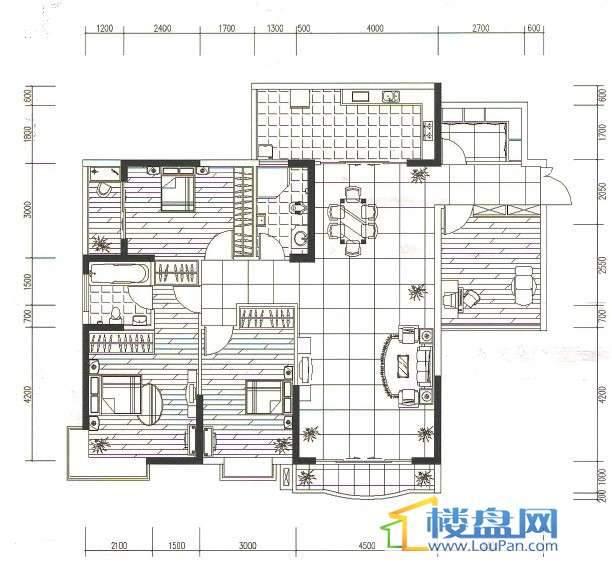 金地苑三期4室2厅1卫