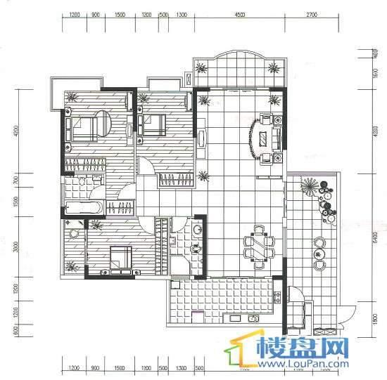 金地苑三期3室2厅2卫