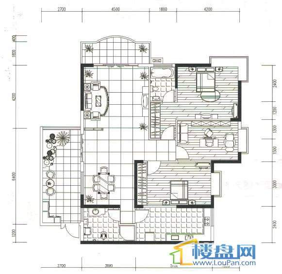 金地苑三期3室2厅1卫