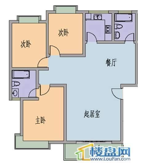 水岸江南3室2厅2卫
