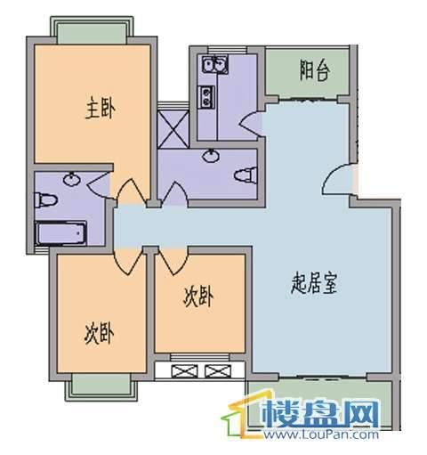 水岸江南 3室2厅2卫