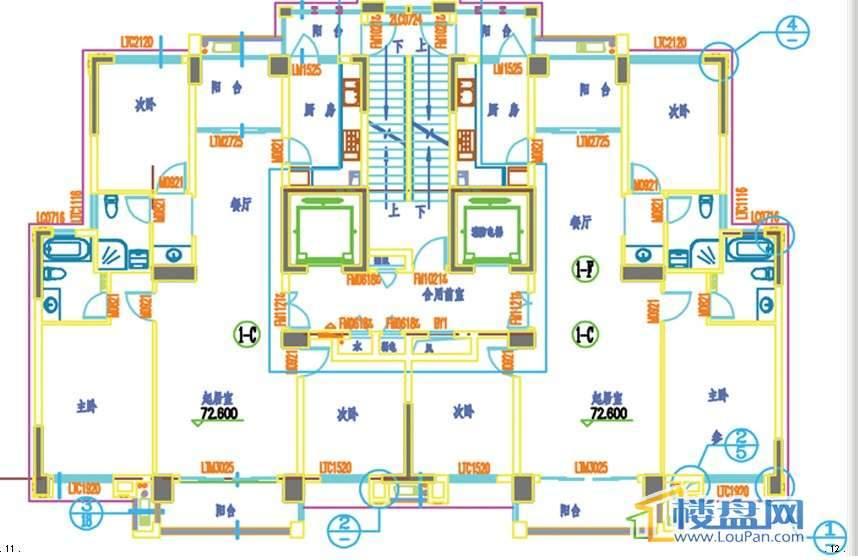 润和·万峰观邸户型图