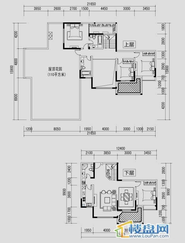 都市道1号J户型4室2厅3卫1厨