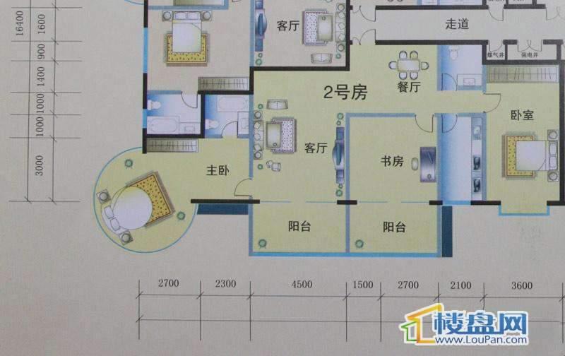花样年华2号房户型2室2厅2卫1厨