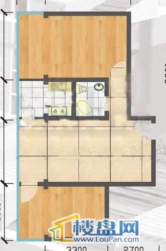 登高小区 户型图2室1厅1卫1厨