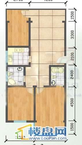 登高小区 户型图3室1厅2卫1厨