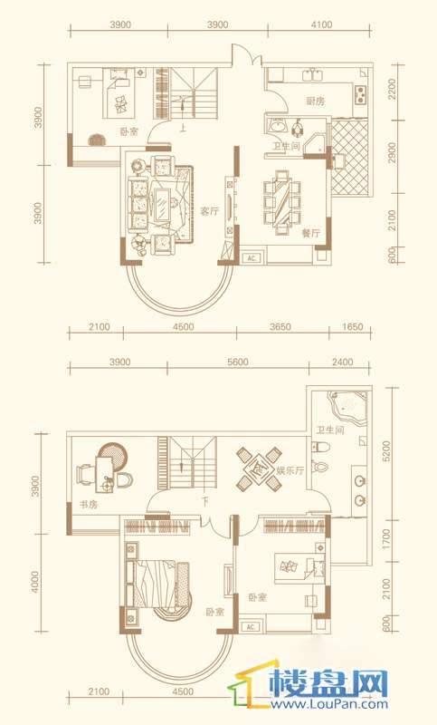 紫金庄园3栋3单元2号户型18层4室3厅2卫1厨