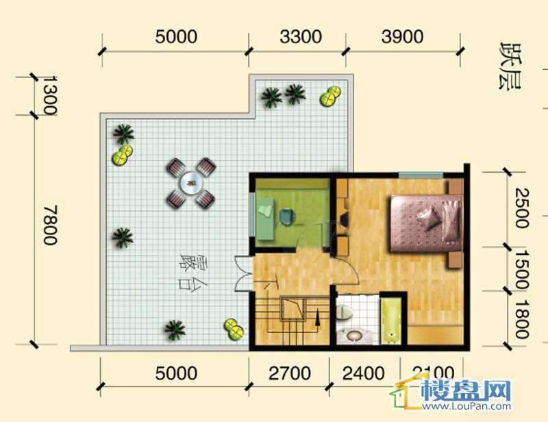 碧玉居跃层户型(上)4室2厅2卫1厨