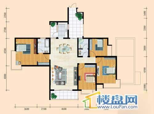 花溪御院H2户型4室2厅2卫1厨