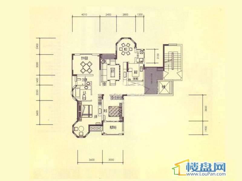 臣功新天地4号楼1单元1号房2室2厅2卫1厨