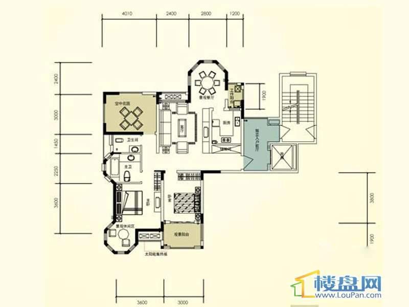 臣功新天地带空中花园 6号楼1单元1号房2室2厅2卫1厨