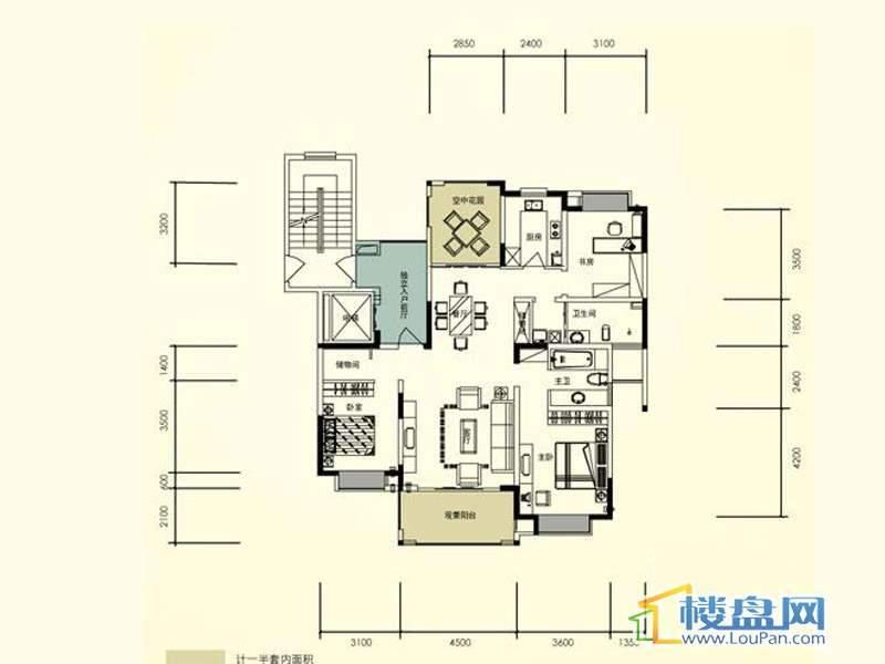 臣功新天地带空中花园 5号楼1单元2号房3室2厅2卫1厨