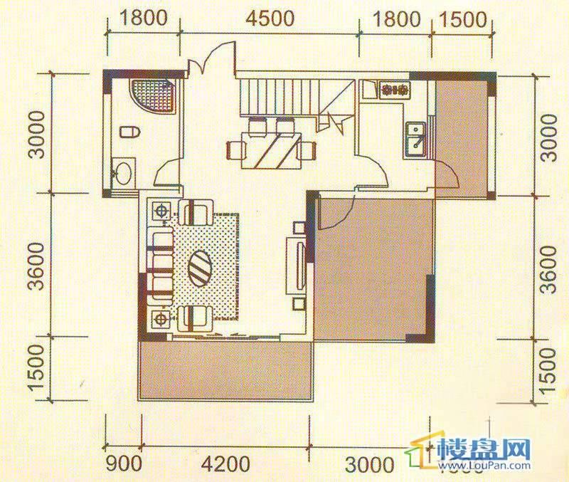 远大生态风景3号楼(33层)K7上层户型4室2厅2卫1厨