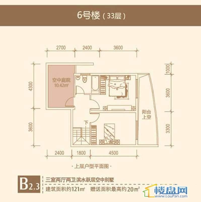 远大生态风景B23b,6号楼(33)层3室2厅2卫1厨