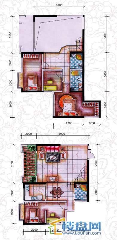 碧园花城世家大宅偶数层A1户型5室3厅3卫1厨