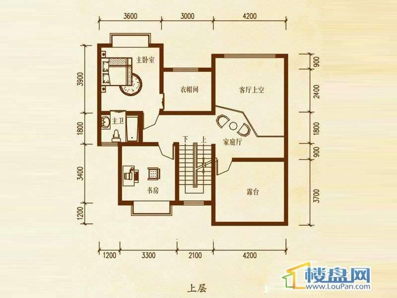 檀溪谷三栋B户型跃层 4室3厅2卫1厨