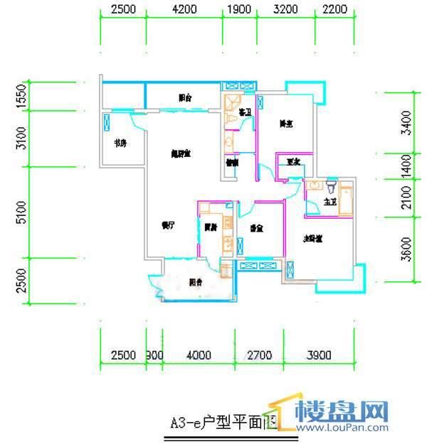 汤泉HOUSEA3-E4室2厅2卫1厨