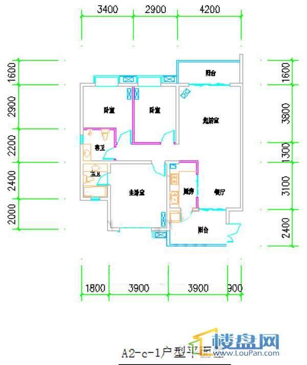 泉HOUSEA2-C-13室2厅2卫1厨