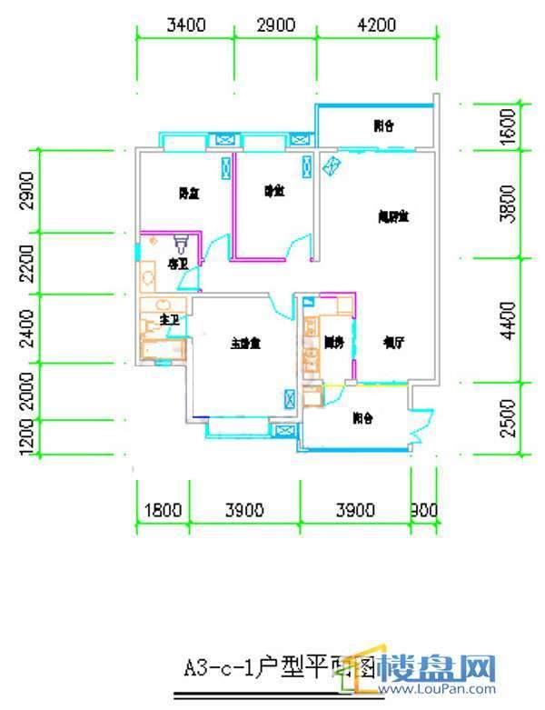汤泉HOUSEA3-C-13室2厅2卫1厨