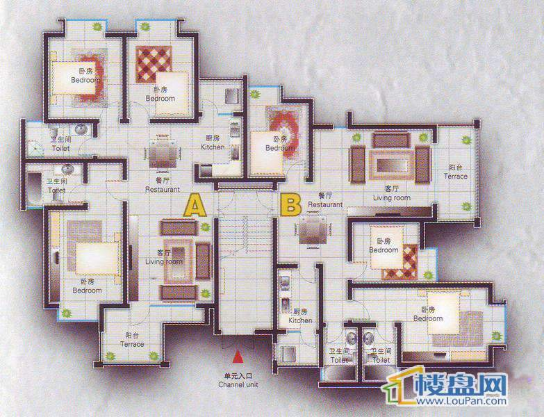 倾国倾城11栋2单元标准层0001