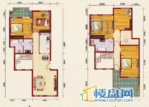 海韵峰景二、三号楼I户型5室2厅2卫1厨
