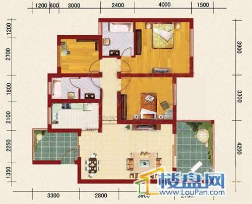 海韵峰景四号楼D户型3室2厅2卫1厨