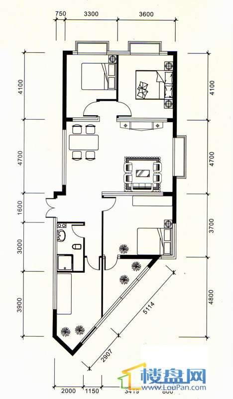 祥源大厦A-1号3室2厅1卫1厨