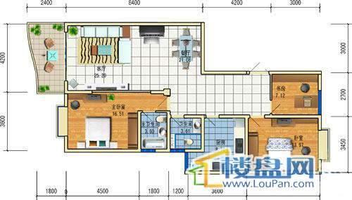 方源广场B2-6-4户型3室2厅2卫1厨