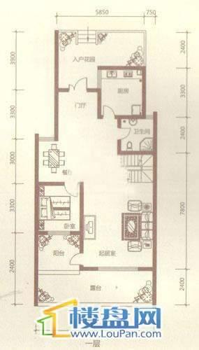 贵财南窗雅舍16号楼下层一层4室4厅3卫1厨