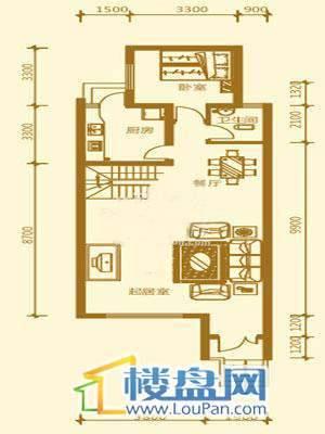 贵财南窗雅舍15号下层一层4室2厅3卫1厨