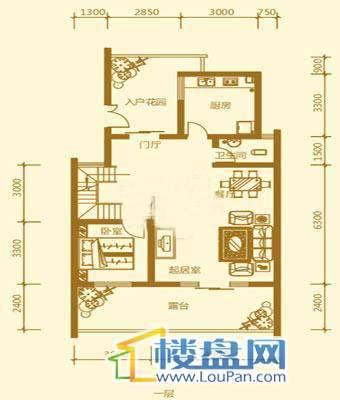 贵财南窗雅舍16号楼上层一层5室3厅3卫1厨