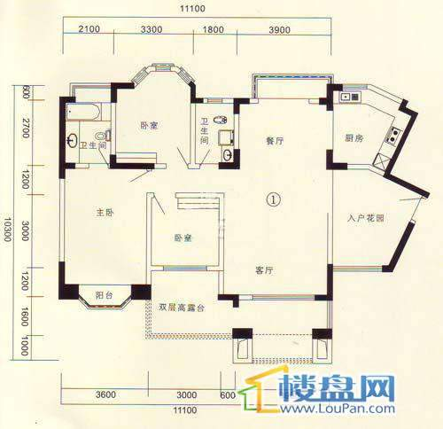 黔城碧水人家E户型3室2厅2卫1厨