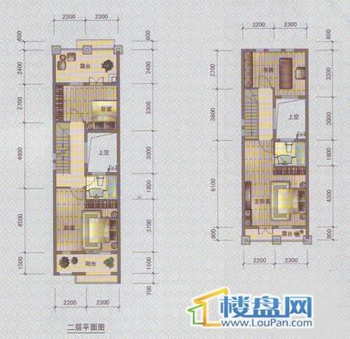 中天托斯卡纳T1b户型二、三层4室2厅3卫1厨