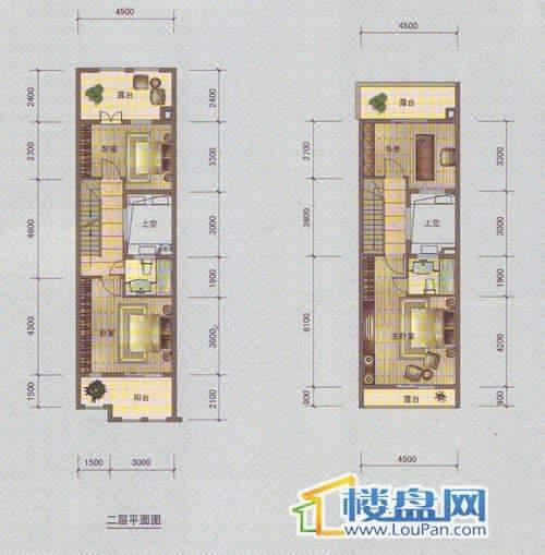 中天托斯卡纳T1C3个户型2、3层4室2厅3卫1厨