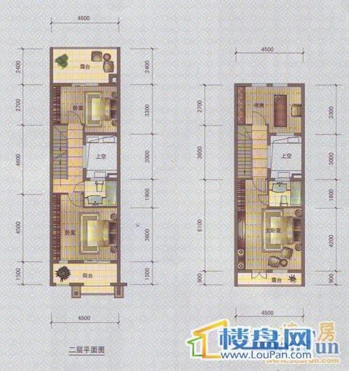 中天托斯卡纳T1D3个户型2、3层4室2厅3卫1厨