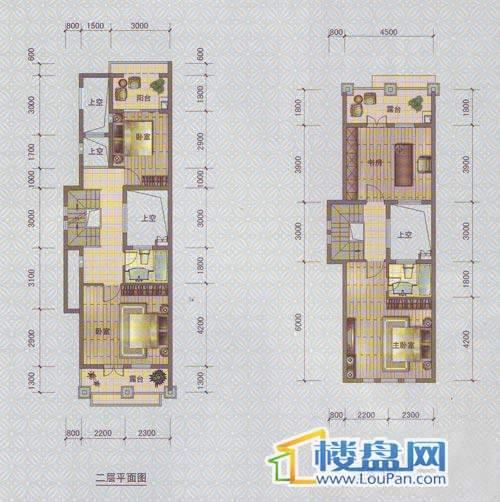 中天托斯卡纳T2A户型2、3层4室2厅3卫1厨