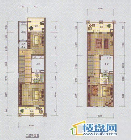 中天托斯卡纳T2B户型23层4室2厅3卫1厨