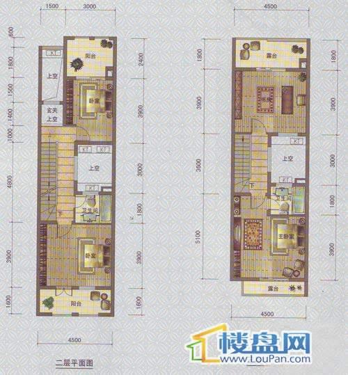 中天托斯卡纳T2c户型2、3层4室2厅3卫1厨