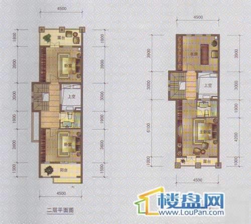 中天托斯卡纳T3户型二、三层4室2厅3卫1厨