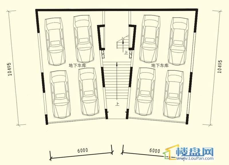 中天世纪新城3期叠拼A户型负二层户型5室3厅3卫1厨