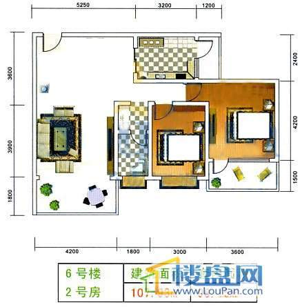美佳假日花园6号楼2号房2室2厅1卫1厨
