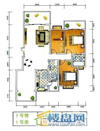美佳假日花园7号楼1号房3室2厅2卫1厨