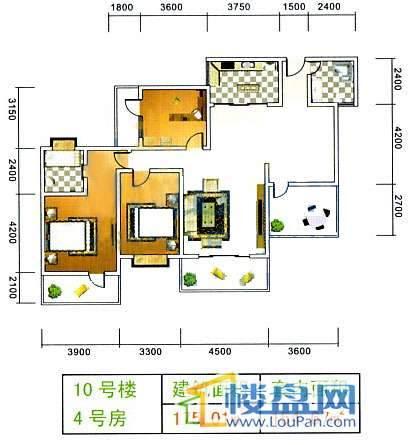 美佳假日花园10号楼4号房3室2厅2卫1厨