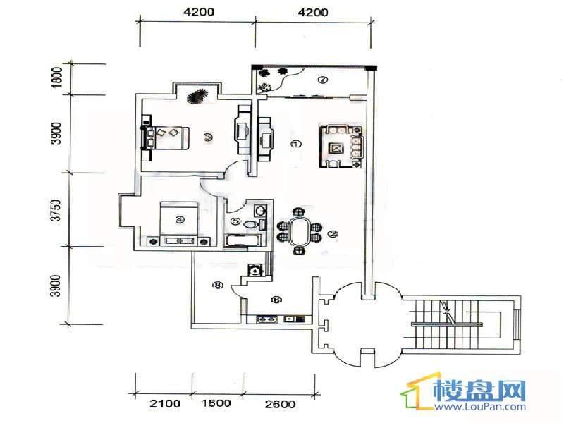 大兴星城10户型2室2厅1卫1厨