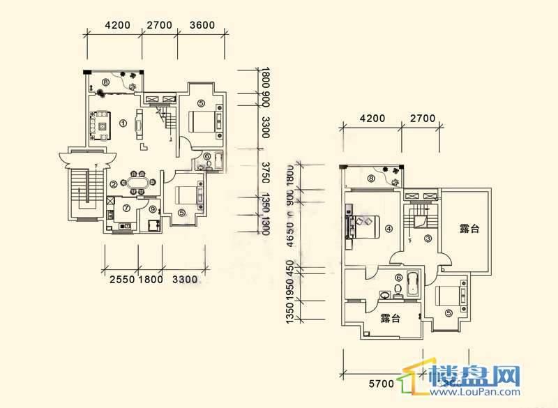 大兴星城B郡跃层户型14室3厅2卫1厨
