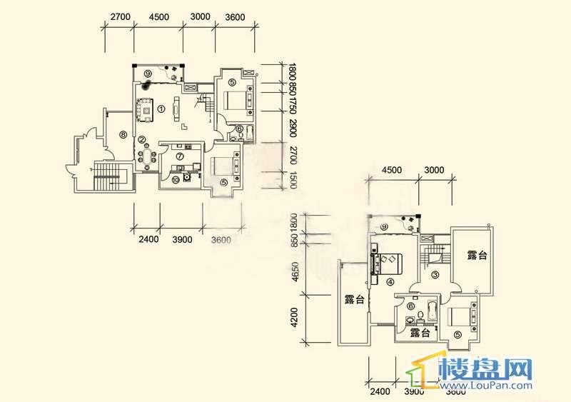 大兴星城B郡跃层户型64室3厅2卫1厨