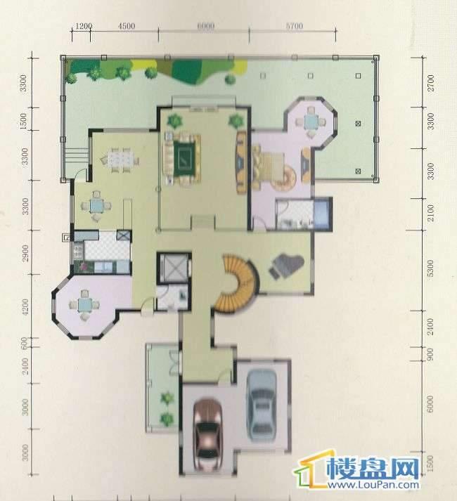 丽水铭城独栋户型(6栋)二层